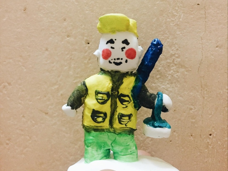 Iwao sculpted claymation clay art illustration