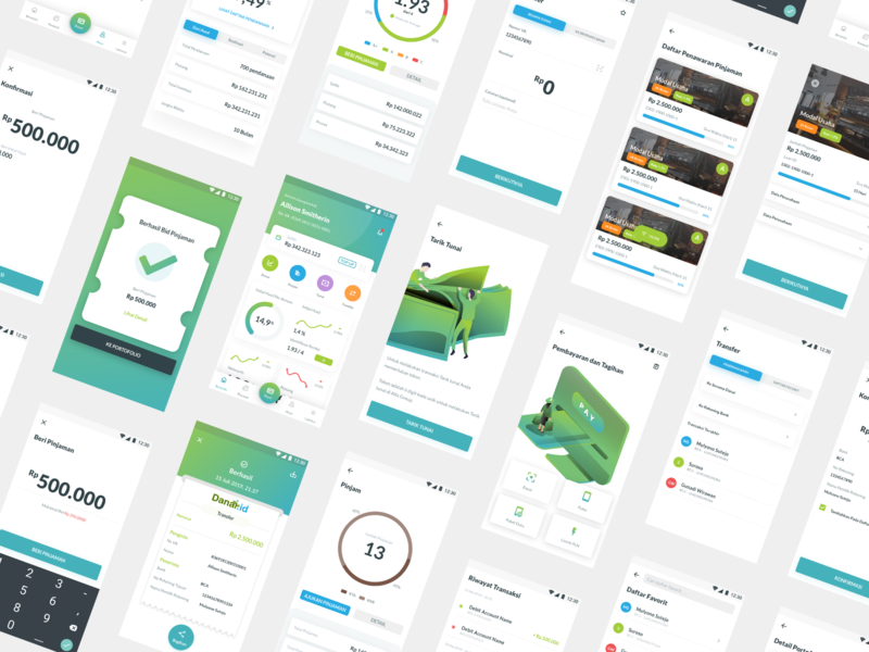 Financial Technology App Exploration clean finances finansial fintech fintek app adobe xd ui