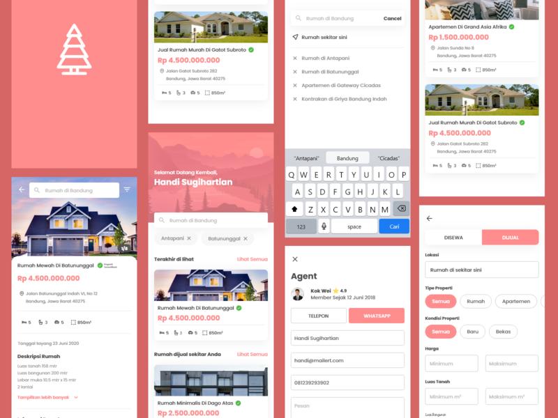 Property Marketplace Exploration property marketplace design clean app ux adobe xd ui