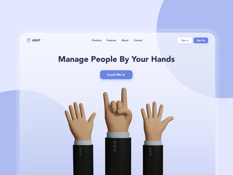 HR Landing Page Exloration landingpage homepage hris 3d hr people hand ui adobe xd