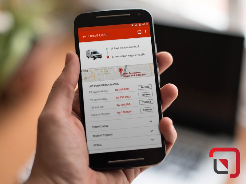 Lontar Marketplace - Android App trucking androidapp android app ux ui design