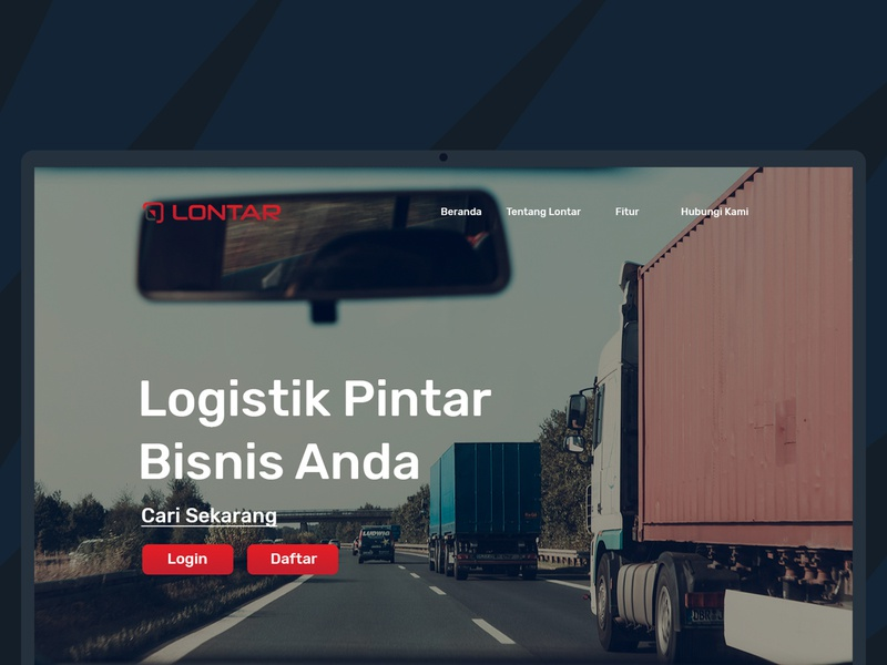 Lontar Marketpalce Landing Page typography website web landing design trucking platform ux ui