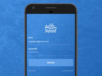 Vessel Marketplace Login Screen invitation dribbble invite first shoot screen login blue ui vessel adobe xd