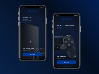 Playstation Concept Store for IOS appstore apple ios adobe xd sketch concept ui playstation