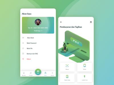 Financial App Exploration exploration payment finance app adobe xd ui ux