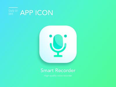 #005-App Icon logo dailui ui100 dailyui daily microphone recorder daily 100 challenge daily challange daily 100 ui challange app icon 005 app icon day5 ui100days ui 100