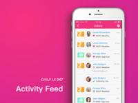 #047-Activity Feed