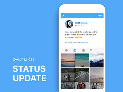 #081-Status Update dailui ui100 app dailyui daily daily challange daily 100 daily 100 challenge ui 100 ui100days update status status update 81 #081 day81