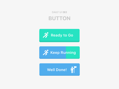 #83-Button dailui ui100 dailyui daily daily challange daily 100 daily 100 challenge ui 100 ui100days runner button 83 083 day83