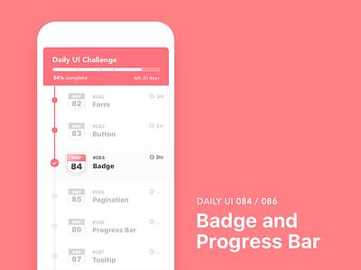 #084-Badge / #86-Progress Bar dailui ui100 app dailyui daily daily challange daily 100 daily 100 challenge ui 100 ui100days bar progress progress bar badge 086 084 day86 day84