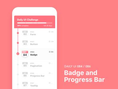#084-Badge / #86-Progress Bar