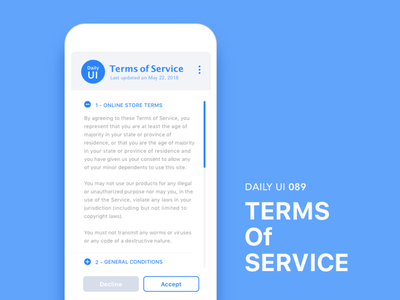 #089-Terms Of Service dailui ui100 dailyui daily daily challange daily 100 daily 100 challenge ui 100 ui100days terms of service 089 day89