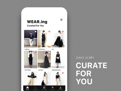 #091-Curated For You fashion wear dailui app ui100 dailyui daily daily challange daily 100 ui 100 daily 100 challenge ui100days curated for you 91 091 day91