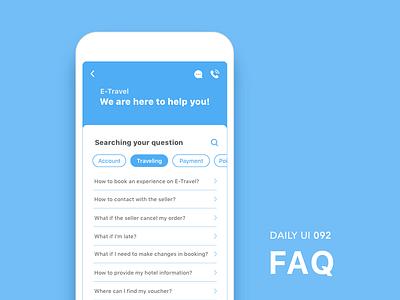 #092-FAQ dailui app ui100 dailyui daily daily challange daily 100 daily 100 challenge ui 100 ui100days faqs faq 92 092 day92