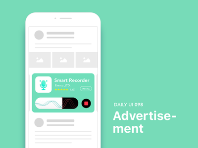 #098- Advertisement dailui app ui100 dailyui daily daily challange daily 100 daily 100 challenge ui 100 ui100days ads advertisement 98 098 day98
