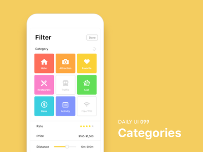 #099-Categories dailui app ui100 dailyui daily daily challange daily 100 daily 100 challenge ui 100 ui100days categories 099 day99