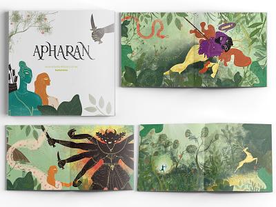 Apharan-An illustraed retelling of the Ramayana mythology mythical publishing publication book ramayana story vector illustration