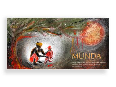munda Tribe-landing page xddailychallenge nature tribes webdesign xd design web design web xd invision ui hello design ui  ux illustration