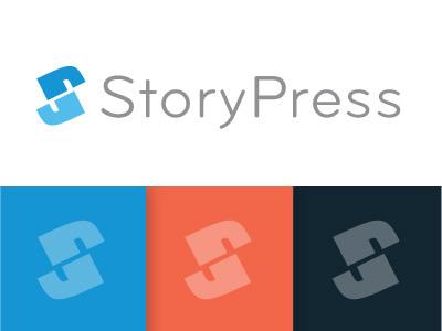 StoryPress Logo elegant seagulls design logo branding identity