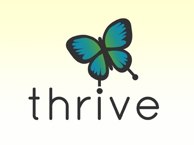 Thrive Dribble Shot mark branding logo identity design color concept