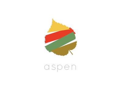 Aspen Concept logo identity branding leaf llogo design logo mark mark type color symbol