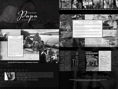 Inspiration Series #3 website mock-up web design design black and white layout photoshop inspiration