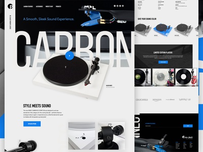 Pro-Ject Concept website layout web web design design