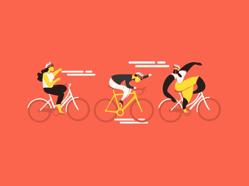 Five Boro Bike Club NYC vector illustrator adobe photoshop adobe illustrator abstract people people fun racer race bicycle app bicycles biker bike ride bike club club sports bicycle bike vector design illustration