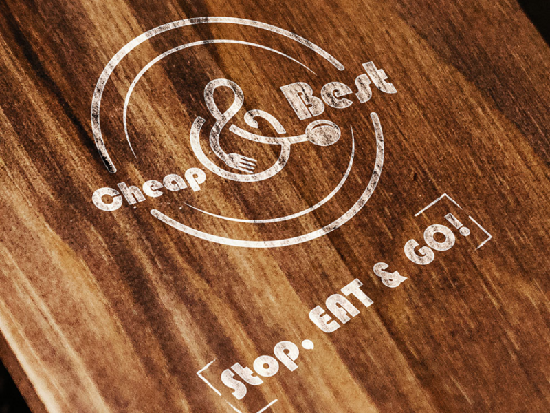 Fastest food simple monocolor minimal design logo
