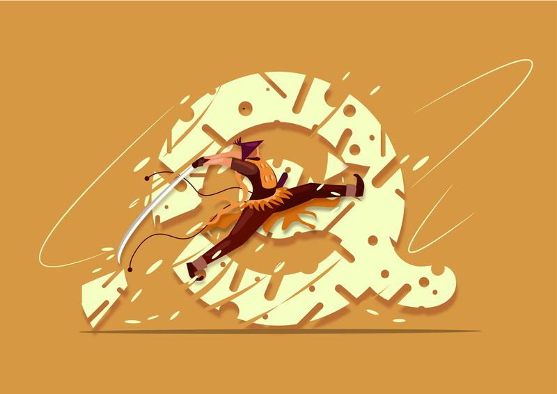 36 days of typography challenge letter 'Q' ui illustration digitalart illustration art samurai action illustration art director design illustration agency adobe graphic design illustration branding typography fantasy art adobe illustration 36 days of type vector 36 days of type lettering dribbble design adobe illustrator