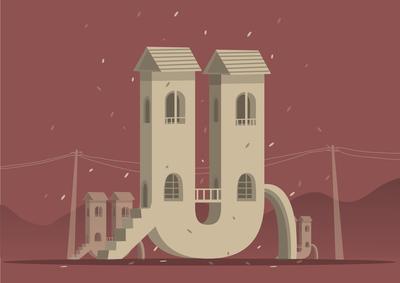 36 days of typography challenge letter 'U'