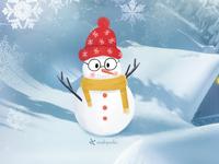 First cute snowmen