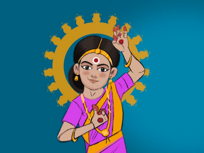 Bharatnatyam artist india design art dance