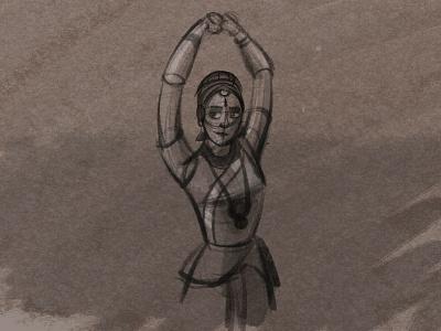 bharatanatyam quick sketch classic designinspiration designs tranding culture dance bharatanatyam drawing animation painting indian india designer design artwork artist art