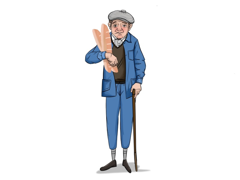 Old Man pro create procreate old man bakery bread character illstration cartoon illustration cartoon character cartoon drawing painting animation indian india designer design artwork artist art