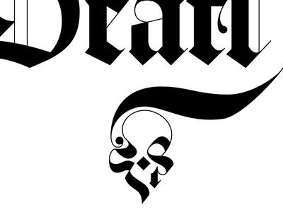 Death hand drawn illustrator blackletter