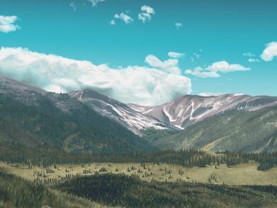 Landscape illustration artrage painting landscape