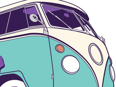 Bus illustrator illustration bus volkswagen
