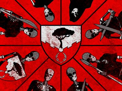 Shield & Undead sca illustration death undead skeleton crest shield device