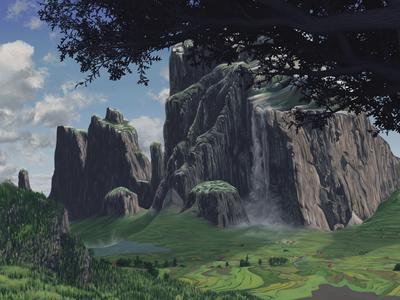 Mountains digital illustration digital painting illustration painting