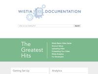 Wistia Documentation Homepage
