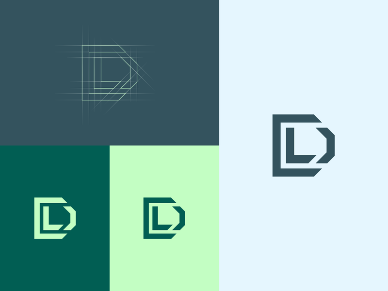 Dl dl design app icon vector illustration branding logo