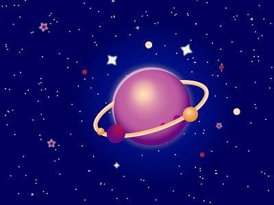 космос векторная графика планета космос