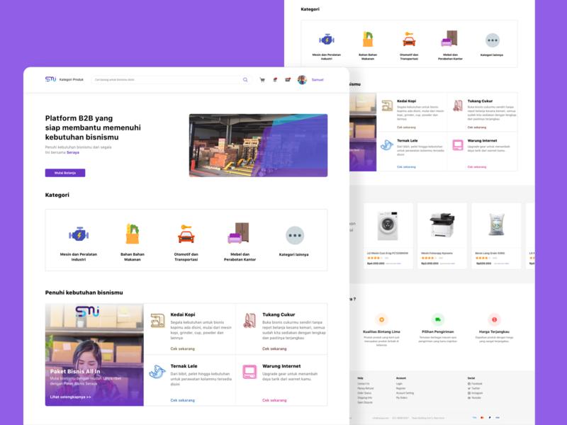 Seraya - B2B Marketplace sketchapp sketch webdesign web ecommerce design uiux ui design ui