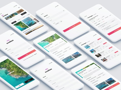 "Travel app "" Ovelloo "" - discover the undiscovered booking illustrator minimal icon typography branding design logo isometric iphone app ui ux concept android ios city guide travel app ui ux design photoshop"