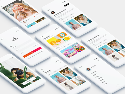 Unsplash Application Redesign branding web minimal logo iphone android ui ux design ios photoshop unsplash concept app