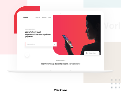 Next Generation Payment Concept iphone face recognition payment app typography web design facerecognition banking payment website web minimal branding logo design ios ui ux photoshop concept app