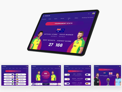Cricket World Cup Revamp minimal uiux sports logo stas cricket icc web logo branding tab iphone design ios photoshop concept app sports