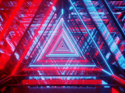 loop animation design art clean triangle scifi octanerender cyclesrender unreal engine 4 blender3d c4d loop animation animation 3d art