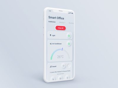 Smart Office App - Neumorphism Style